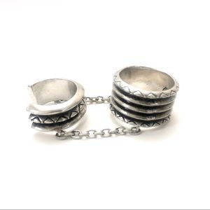 House of Harlow Double Ring in Silver
